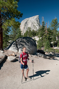Day 2 on our way up to Half Dome (in the background)
