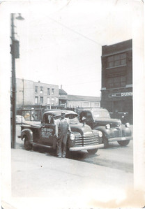 Claude Hall and work truck