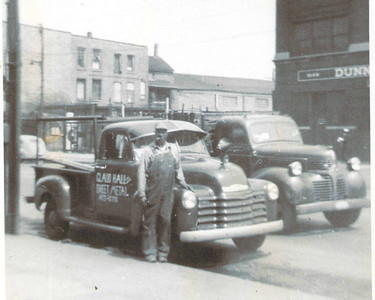 Claude Hall and his Truck