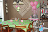 Hallie's had a pink and green polka dot birthday party.  Everything was polka dots, including the food!!!