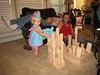 Grand Dad and Grandpa Byron made a block city out of my blocks