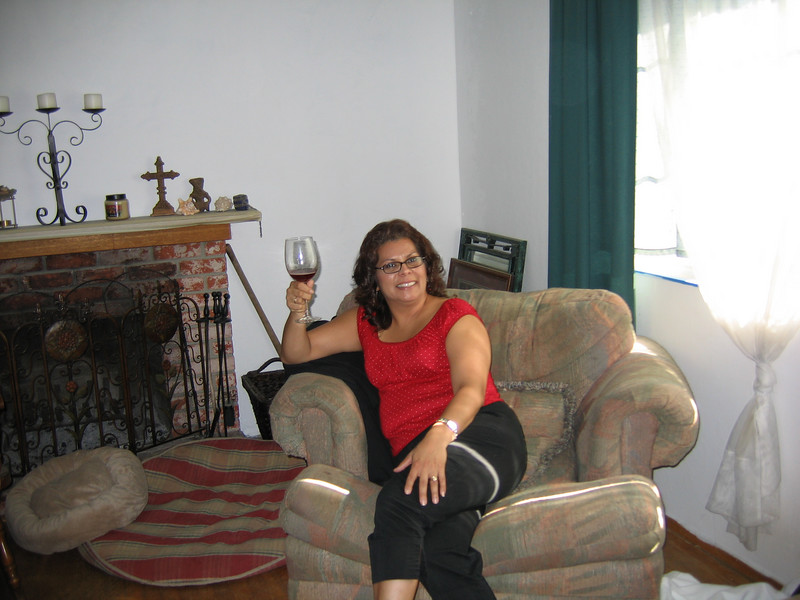 My sister boozing it up.