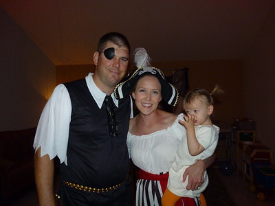 Mark, Ari, & Cambria at the Moore's Halloween party