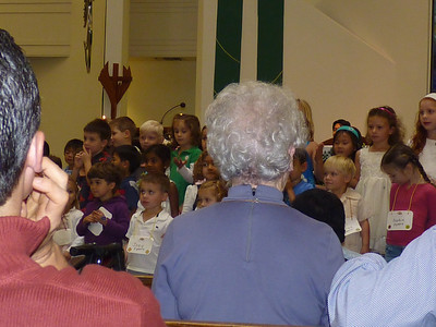 Joey's Sunday School class singing in St. James Church