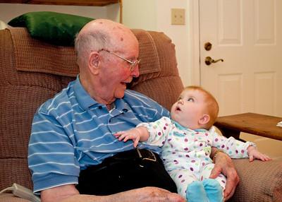 Hannah and Great Granddad