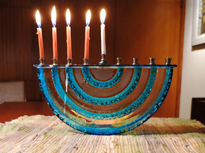 Hanukkah, second night, 2012
