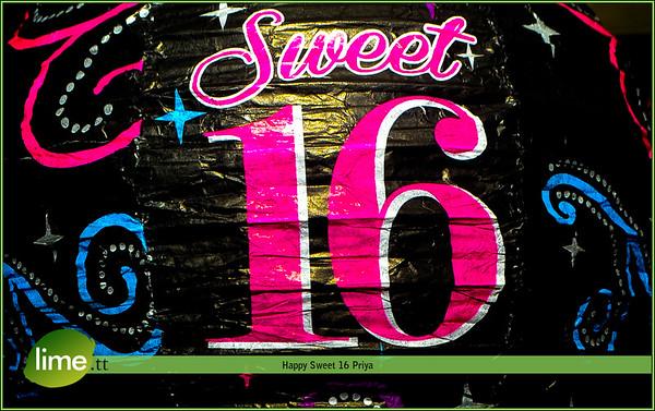 Happy Sweet 16 Priya