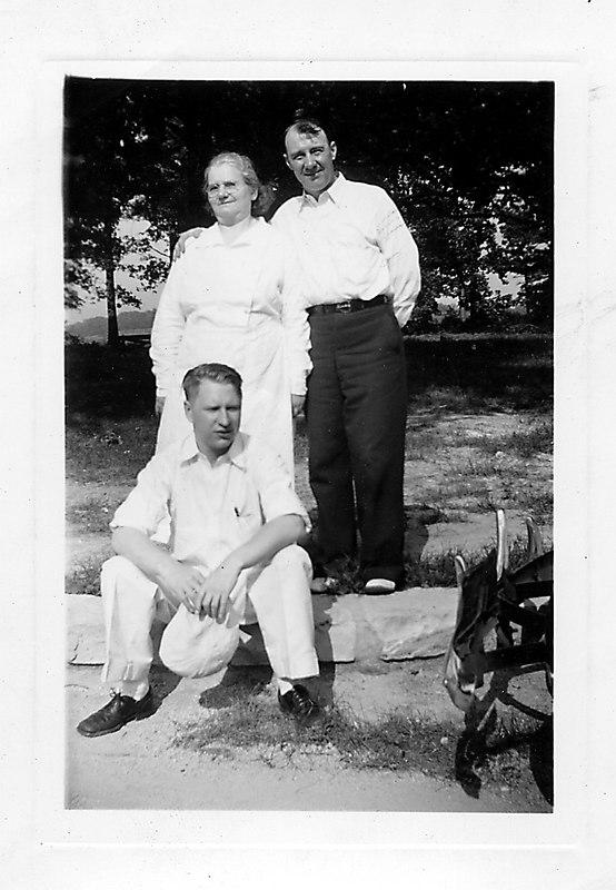 Grandma, Frank, Bret - Summer 1938