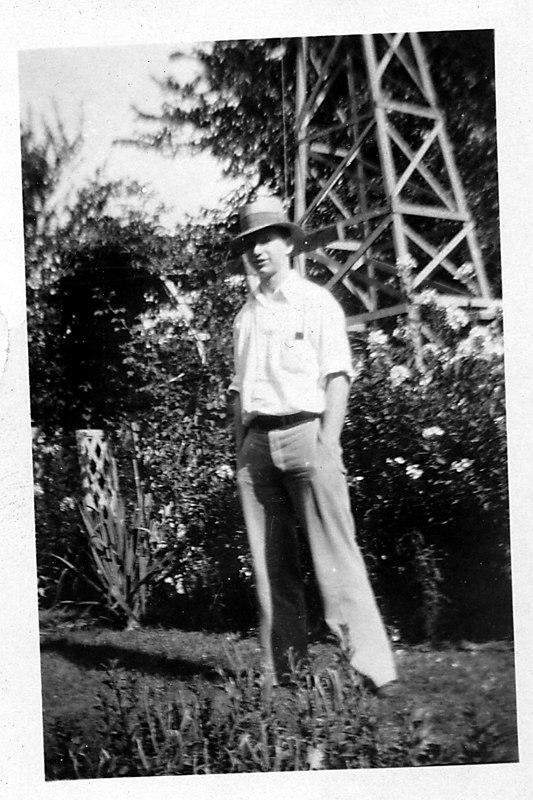 Bret Harding, at Cedar Rapids, August, 1929.
