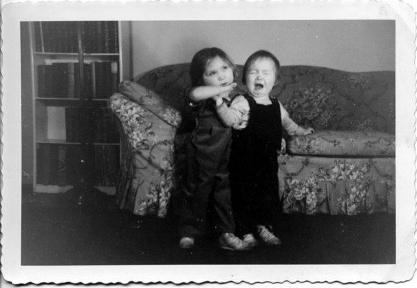 Madelyn and Roberta, January 1942.