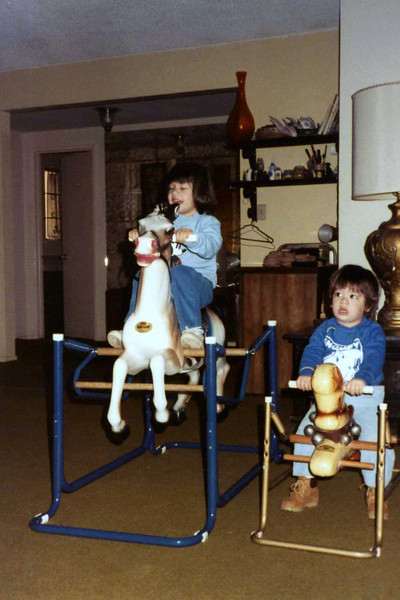 June 1984<br /> Sara is clearly enjoying the horses more than Mike