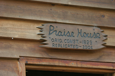 Sign above Praise House
