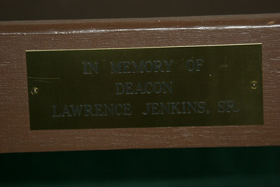 Deacon's seat - Jenkin's is buried where he can see who sits in his seat