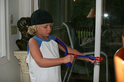 Wyatt and the marshmallow shooter