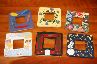 Craft Contest - frame painting - top row - Chee, Catherine, Ed, bottom row - Melanie, Wyatt, Caroline