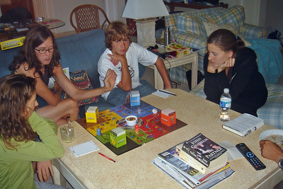 Anne, Catherine, Caleb & Lauren play Cranium