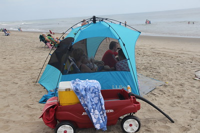 one of our several sun tents