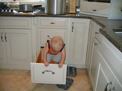 Aaron loved the kitchen