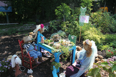 tea party at the Flowering Bridge