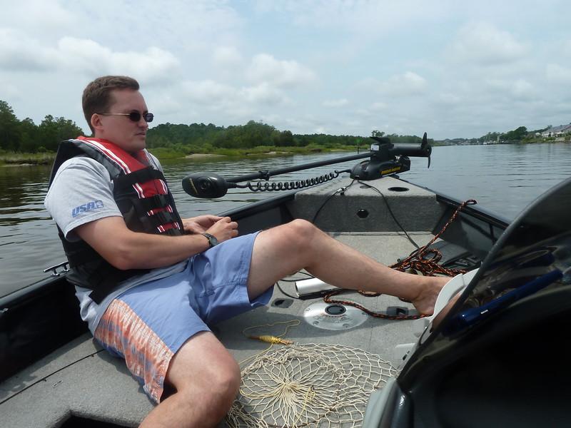 on Ed's boat