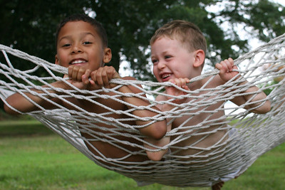 Edward & Aaron in hammock