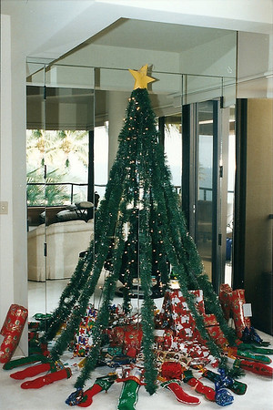Homemade Christmas tree & stockings- Hawaii 12/98