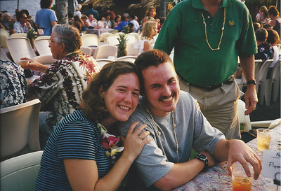 Anne & Edward at the luau - Christmas Day