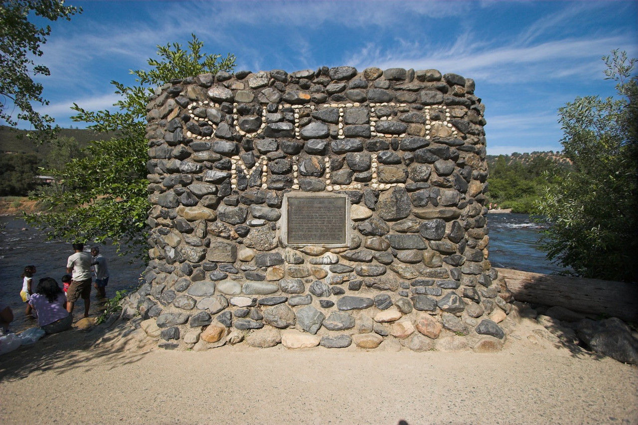 The original location of Sutter's Mill, where gold was first discovered in Califronia, setting off the gold rush in the mid 1800's