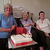 Grandma Renwick on her 100th Birthday May 2013 with Ann and Joan