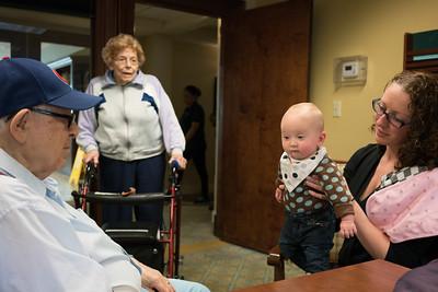 Grandpa meets Baby Aurelia