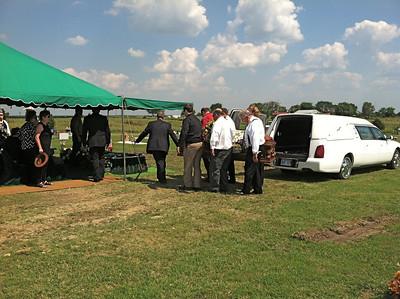 Graveside service at Ethel Reece Cemetery, Barnsdall, Oklahoma. June 23, 2012.