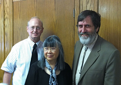 John R. and Ellen with Ken.  We had last seen them in New Mexico in 2010  (see photo of us together December 2010).