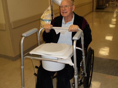 "December 1--Leaving hospital--""have toilet will travel"""