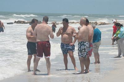 Mudslides anyone?  Jason (red shorts) and then clockwise, Ben, John, Bumba and Blake