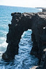 Sea arch at the end of the chain of craters road.