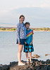 Robyn and Zach at the hotel beach.