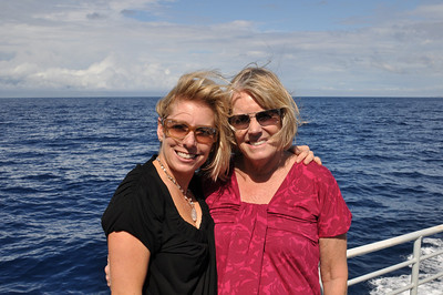 Christine and Jules on the ferry.