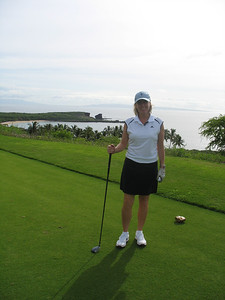 Golf at the Manele course