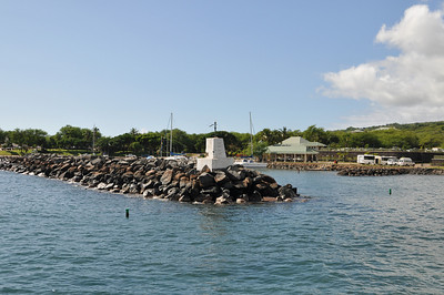 Coming in to the harbor at Lanai