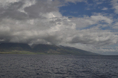 On the ferry from Maui