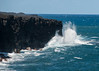 Waves crashing into old lava flow.
