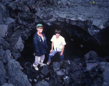 Big Island - caves at bottom of Mauna Loa
