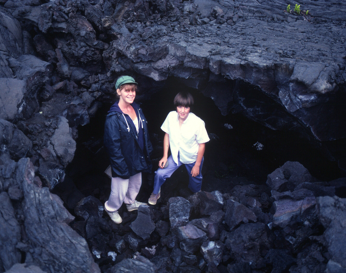 Big Island - caves at bottom of Mauna Loa