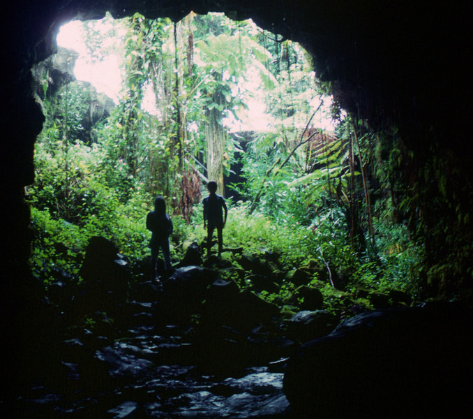 Big Island - entrance to lava cave
