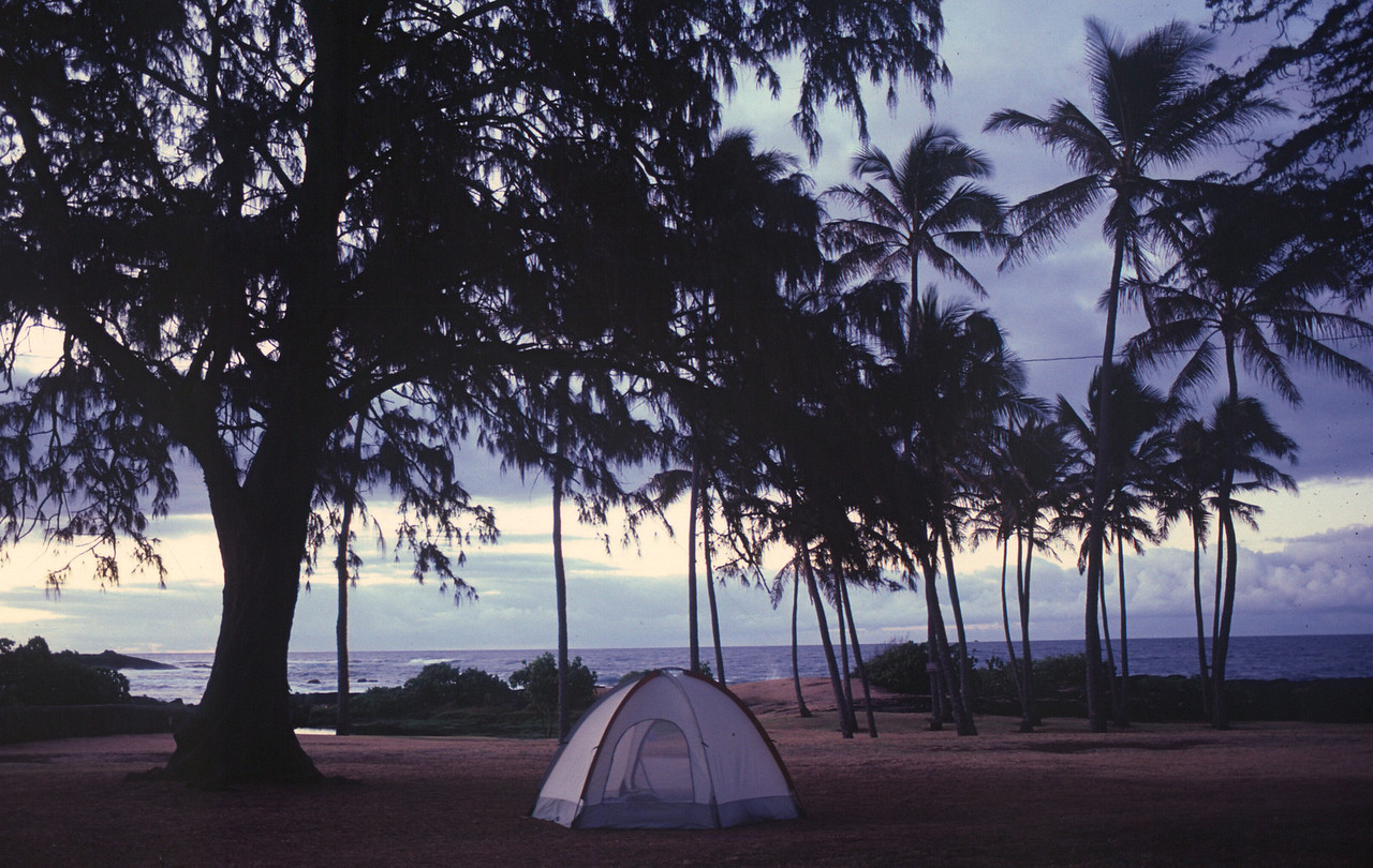 Big Island - beach campground