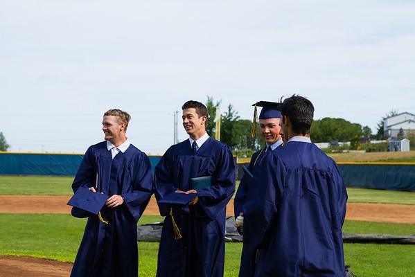 Very happy graduating class