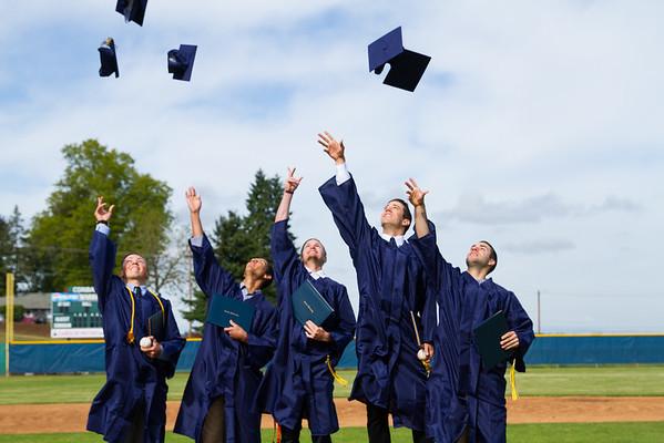 Hayden and the baseball graduating class