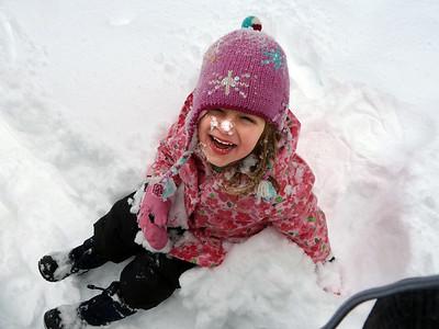 Hazel sits in snow_042
