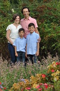 family flower garden