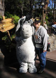 Heather and Eyore, Disneyland, January 2005